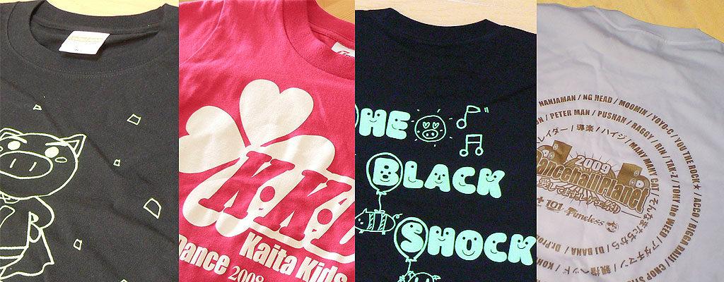 オリジナルドライTシャツのプリント作成例の写真